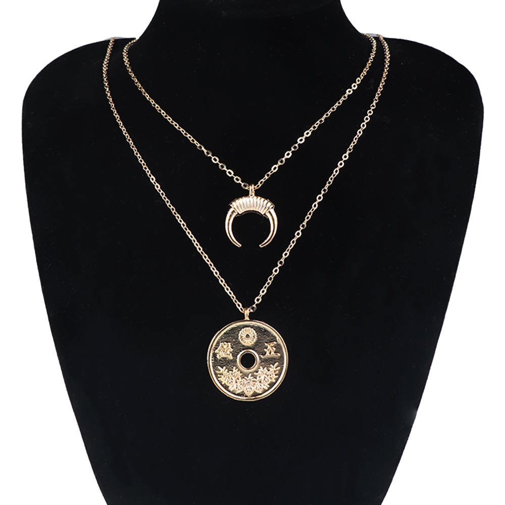 4 x Argento Anticato Etnico Boho Tribal Crescent Moon Collana Ciondolo Connettori