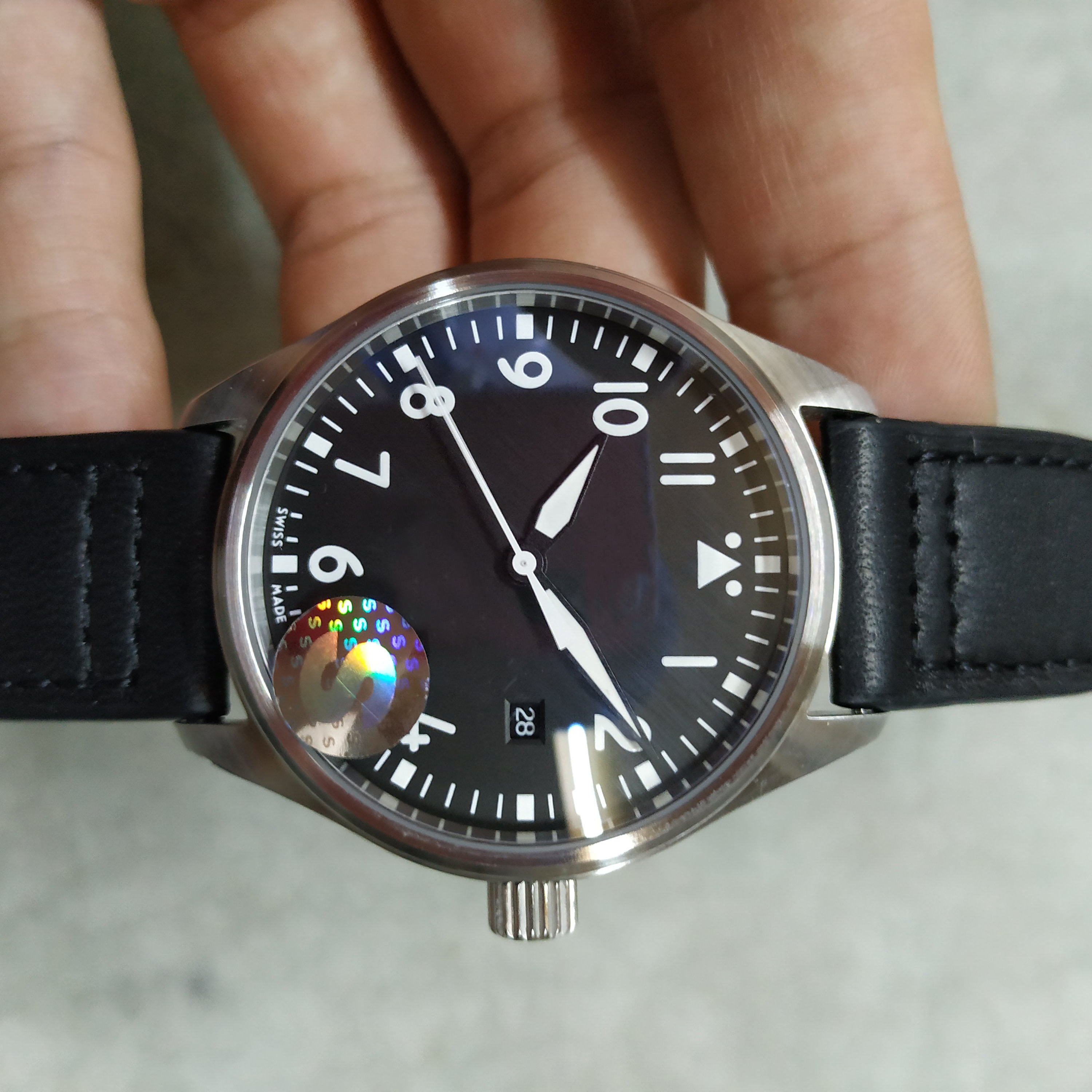 Hot Sale Automatic Movement Leather Black Dial Date 40mm Men's Fashion IW324010 PILOT'S MARK XVIII WATCHES