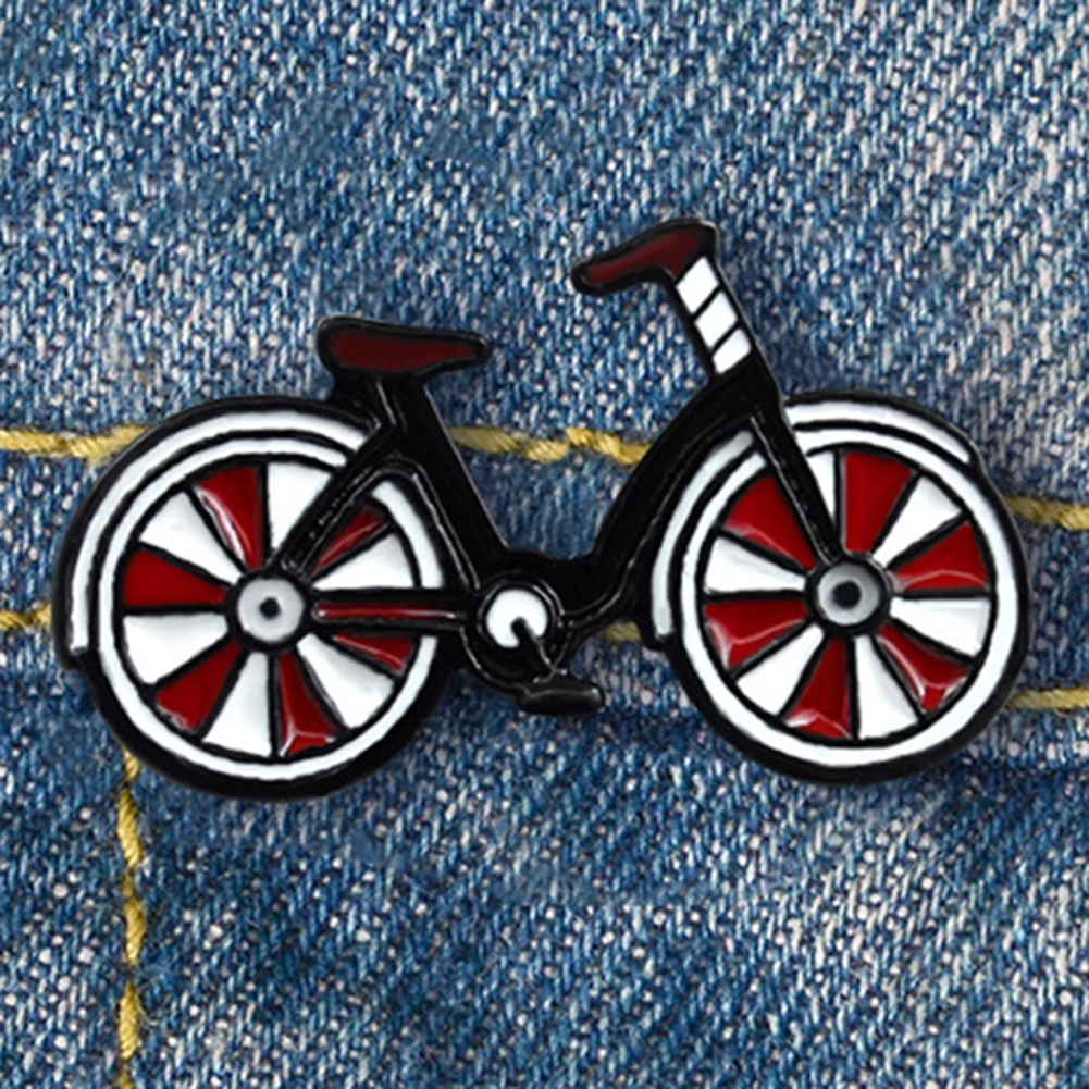 Pink Bike Enamel Pin Brooch Gift Badge Bicycle Bike Rider Sport Outdoors