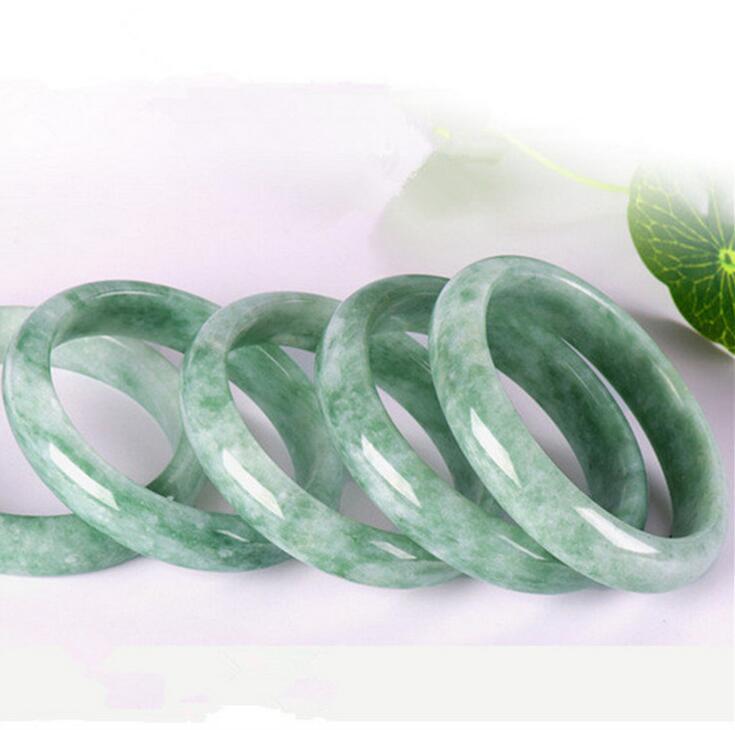 Fashion 100/% naturel Guizhou JADE JADEITE bead Perles Bracelet Jonc 56mm-62mm