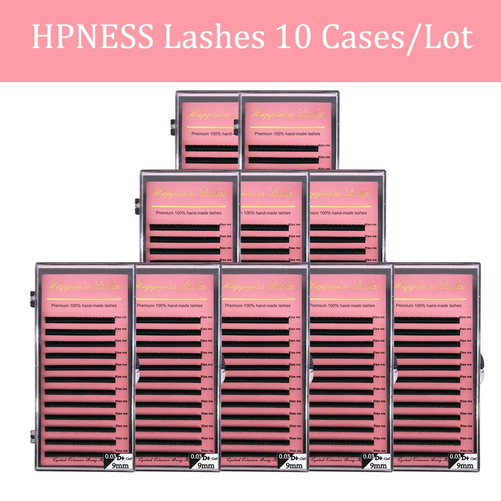 HPNESS 10 Trays/Lot Eye Lashes Soft Korea Silk Volume Eyelash Extension Classic Lashes for Eyelash Salon