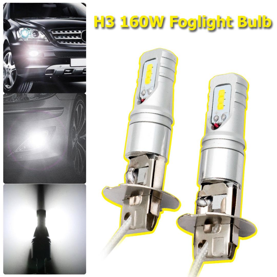 E197 FF49 Xenon White H7 68 SMD LED Head Daytime Light Bulb Lamp for Car Vehicle