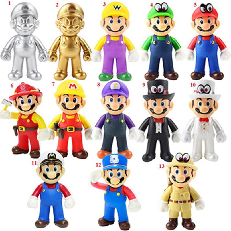 7cm 12 Stück Set Aktion Chraktere 3cm Super Mario Bros Figuren Spielzeug