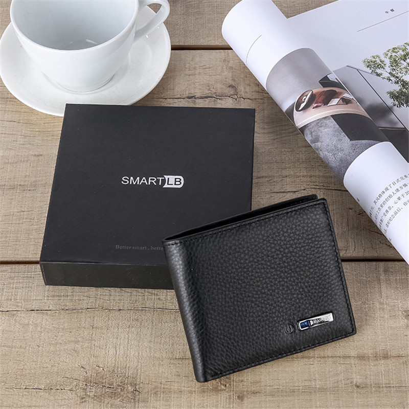 Smart Wallet Men Genuine Leather High Quality Anti Lost Intelligent Bluetooth Purse Male Card Holders Suit For Ios, Android Y19051702