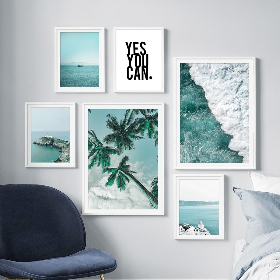 Honolulu Hawai Mar Playa Océano LONA pared arte Foto impresión enmarcado