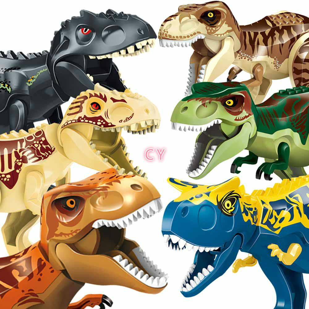 Big Size 68CM Dinosaur World Shark TRex Velociraptor Jurassic Tyrannosaurus Park