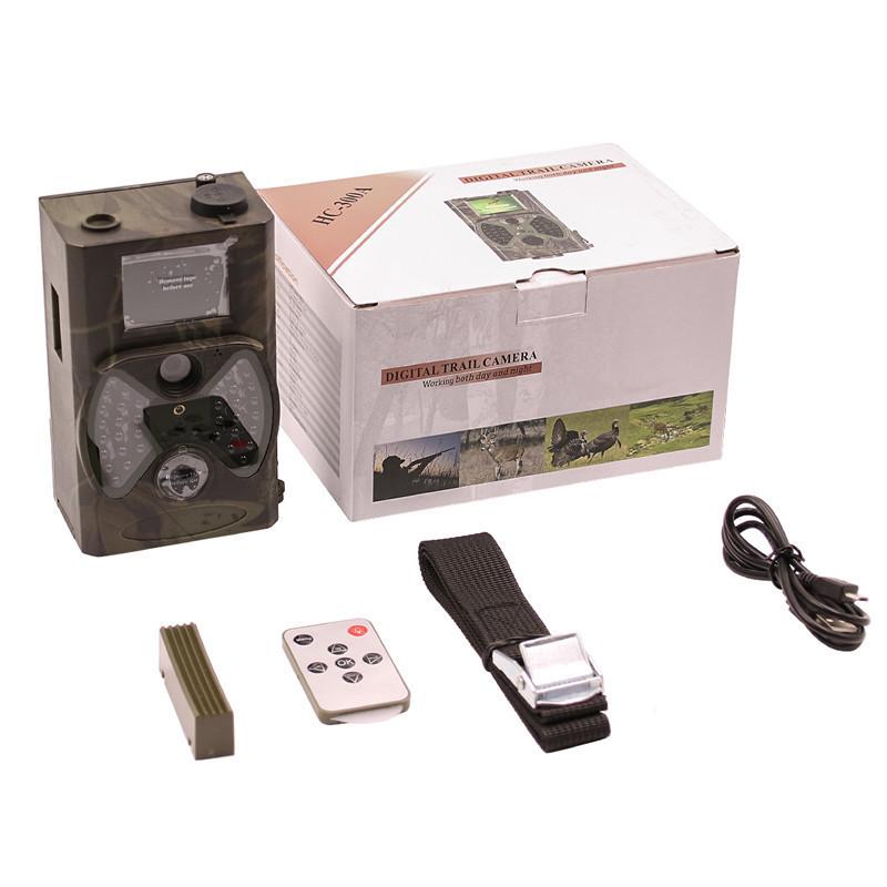 Telecamere di caccia con telecamere riprese di sentieri Suntekcam Hc-300a 12mp 1080p Foto di trappole osservazioni fotografiche Ip54 impermeabile 32 gb Trail Scouting Cam T190705
