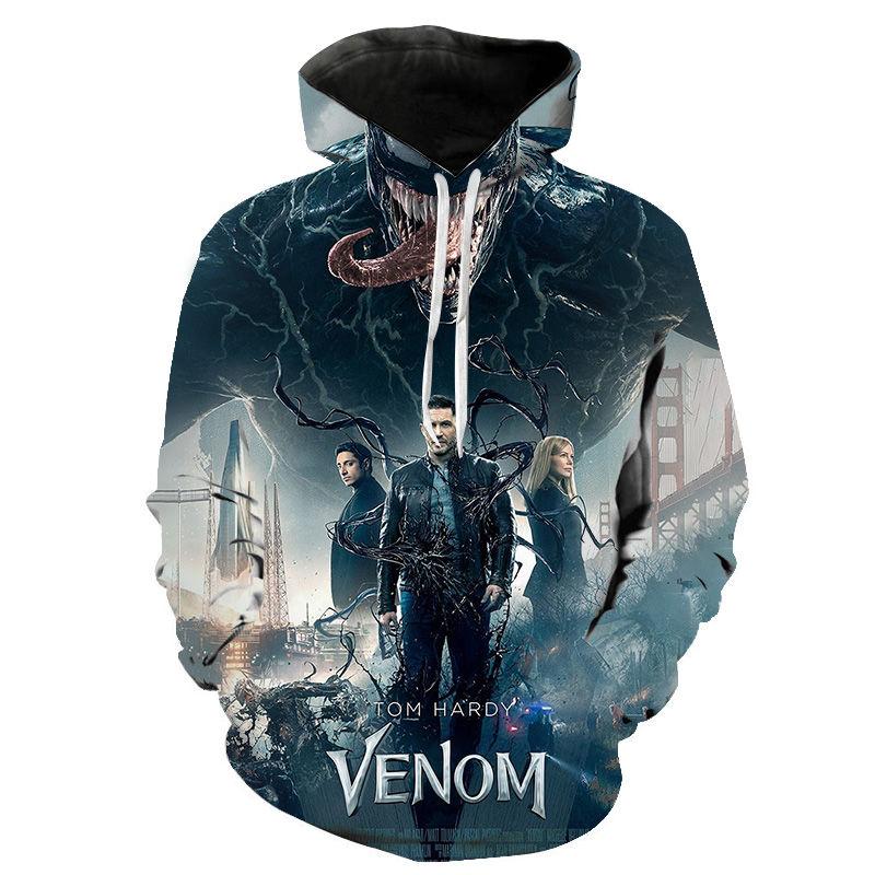 Venom Sweat à capuche TOM HARDY Marvel Spider-Man Venom Unisexe Adultes /& Enfants Sweat À Capuche Top