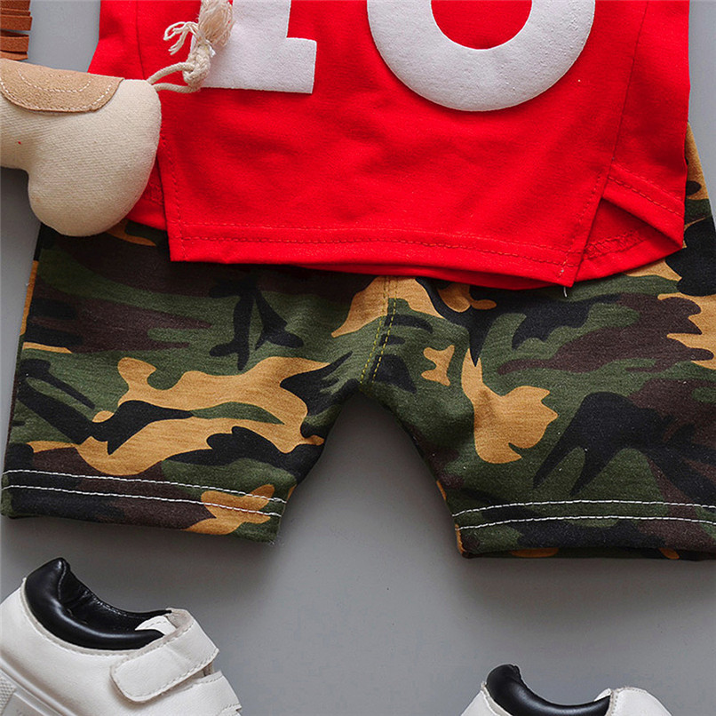 2PCS Summer Baby Sets Boy Toddler Baby Boy Sleeveless T-shirt Vest Tops+Camouflage Shorts Pants Sets Baby Boy Clothes M8Y24 (6)