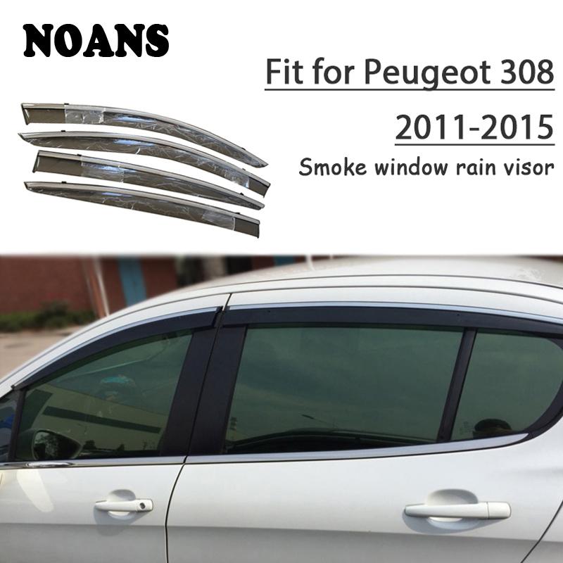 Tailored Carpet Car Floor BLACK MATS WHITE EDGING FITS PEUGEOT 308 2007-2013