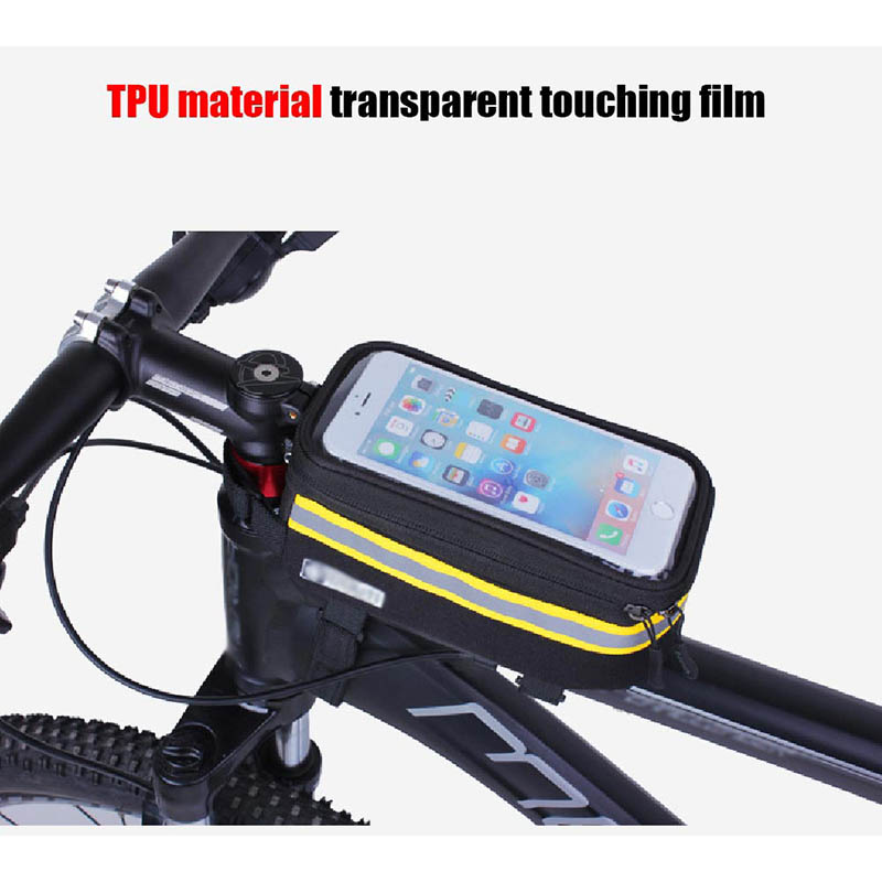 Bicycle Phone Bag Case Touch Screen Waterproof Bike Frame Front Tube Storage Bag Pouch Case for iPhone Samsung 3.5-6 inch Phones (7)