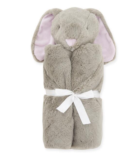 Kaninchen-Form Mantas Baby-Quilt Tagesdecke Schlafsack Gestrickte Wolldecke