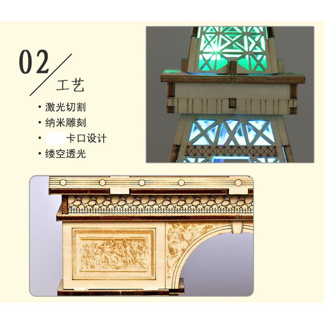 Fashion New Assembly Colored Painting 3D Wooden Leaning Tower Building Model Educational Toy Fashion Leaning Tower Model