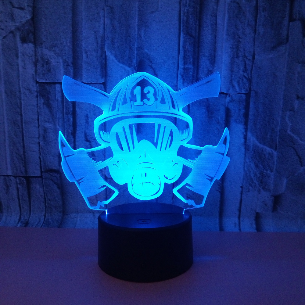 Sınır ötesi Elektrik Tedarikçiler Yeni Desen Yangın Kontrol Maskesi 3d Renkli Dokunmatik Lamba Dokunmatik Uzaktan Kumanda 3d Lamba 3d Görüş Lambası