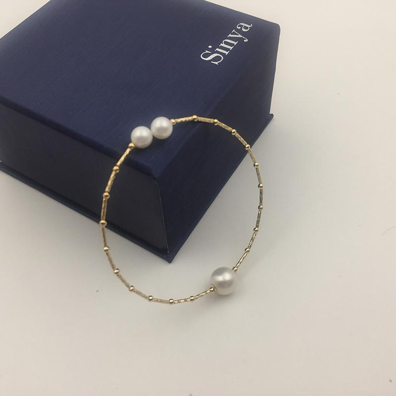 18k gold bangles bracelet SL18K1004 (5)