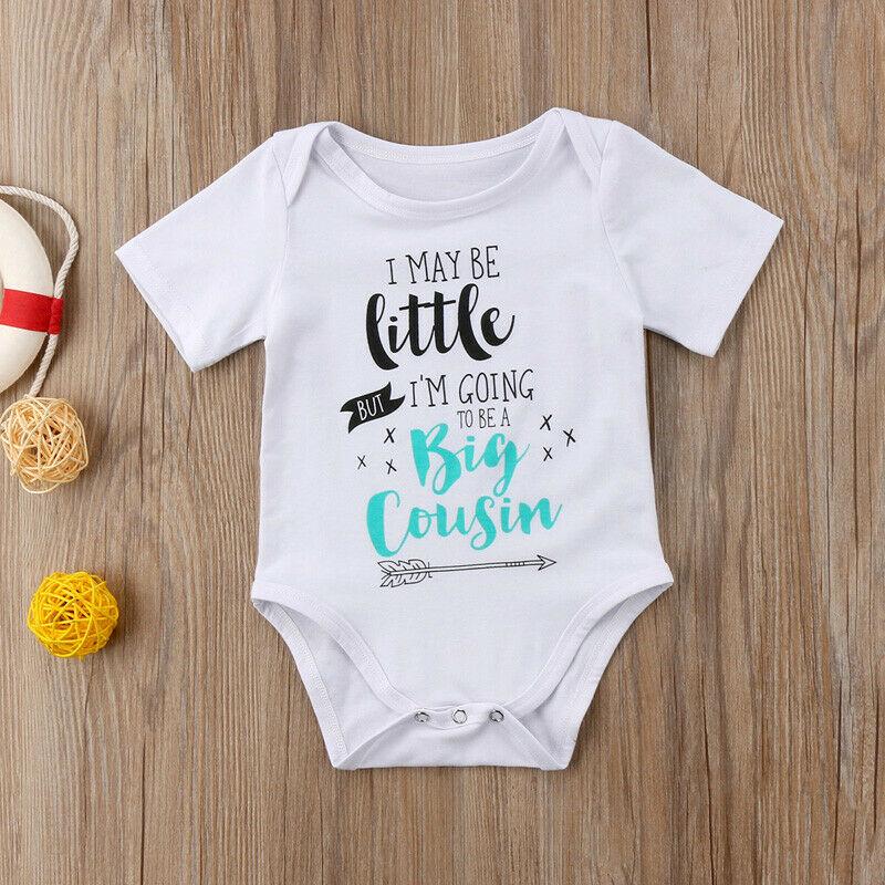 Un cousin est un ami pour la vie brodé bébé ange Babygrow Cadeau Meilleure tante