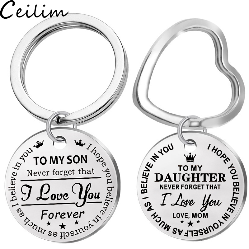 Porte-cl/és pour Fils No/ël Anniversaire Cadeau de Maman to My Son Never Forget That I Love You