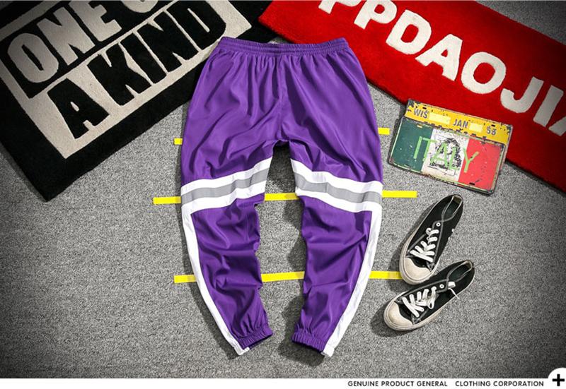 Loose Hip Hop Cargo Pants Men Camouflage Patchwork Harem Mens Trousers Streetwear (34)