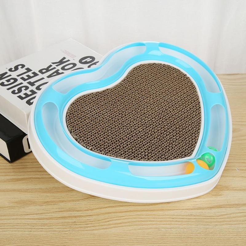 Cat Scratching Board Toy Corrugated Paper Interactive Chew Toys Slots Heart Disc Grabbing Ball Grinding Claws Plate Cat Supplies