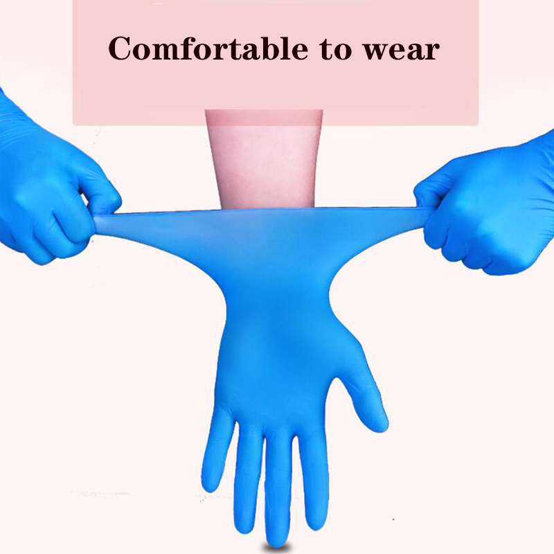 Disposable Nitrile Gloves Latex Cleaning Gloves Household Garden Cleaning Gloves Home Cleaning Rubber Proof Mitten PINK ROSE