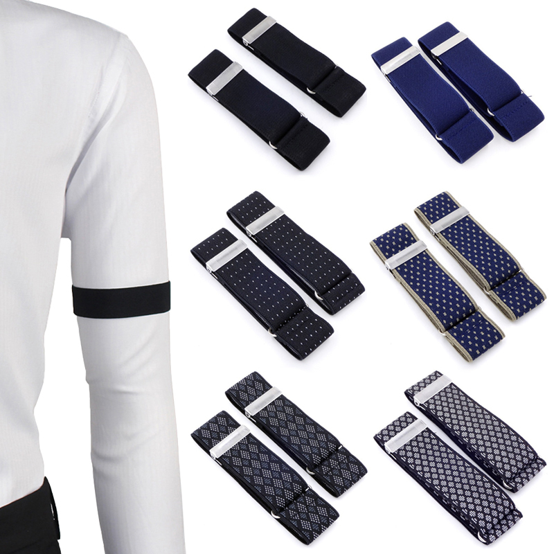 SupSuspen Mens 2 PCS Paisley Shirt Garters Sleeve Holders Armbands 1 Inch Width