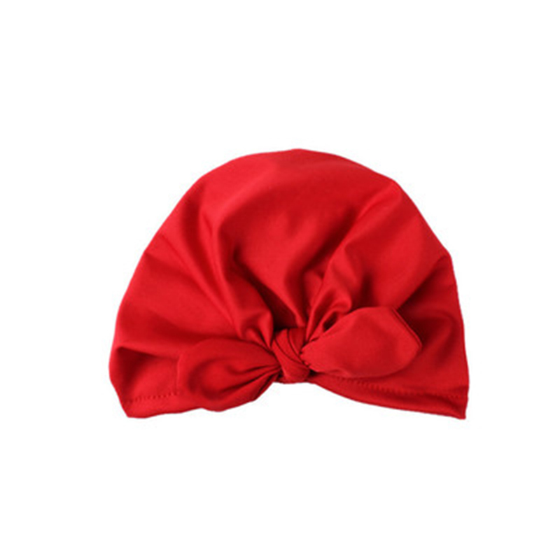 Lindo bebé nudo grande atado sombrero algodón sólido suave turbante gorros niña verano otoño sombrero niños recién nacido gorra bebé niñas fotografía accesorios