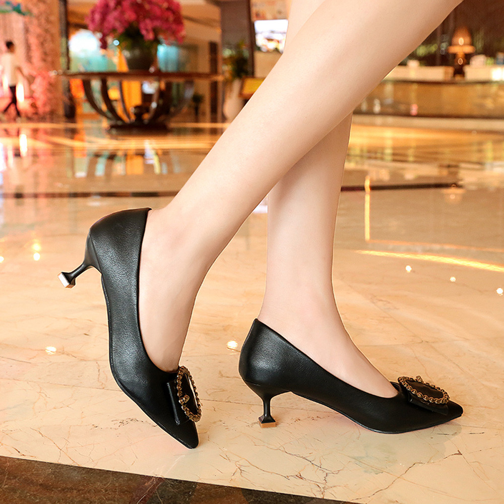 Designer Dress Shoes New Sexy White Black Women Nude Formal Pumps Ladies Glossy Shallow Pointed Toe Sandals Ankle High Thin Heels