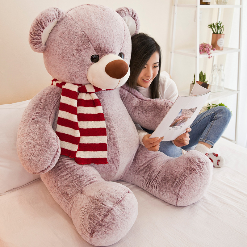 Large teddy bear doll plush toy large hug bear valentine gift big bear