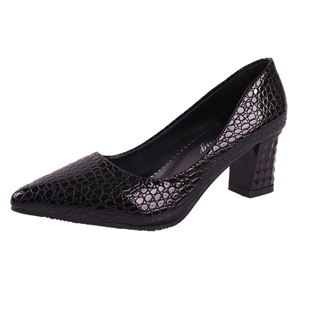 Dress Shoes Xiniu Women Comfortable Cheap Casual Ladies Sexy Solid Party Wedding Thick High Heel Pointed Toe Single