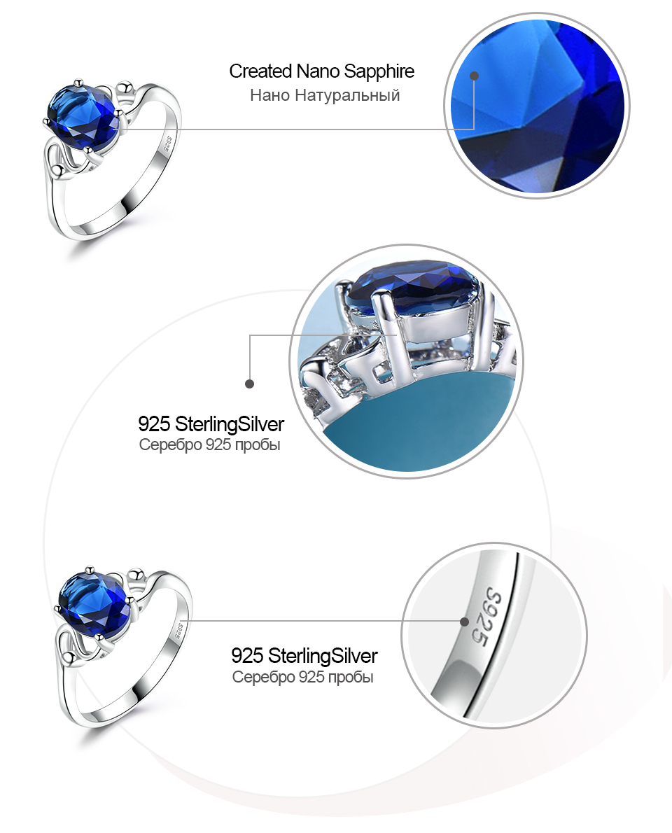 UMCHO Sapphire 925 sterling silver rings for women RUJ089S-1-PC (7)