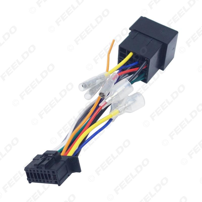Pioneer 16 Pin Mazo de cables ISO Conector Adaptador De Radio estéreo del coche Telar pi100