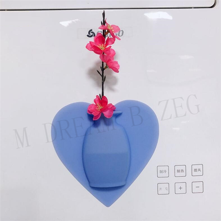 Magic Silicone Sticky Vase Removable Creative Wall Hanging DIY Fridge Home Decoration Vases Reusable Vase Pots Bottle Gift Box Packaging
