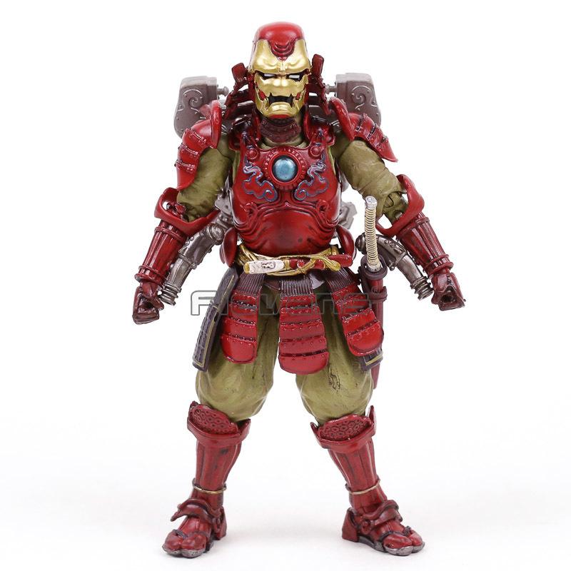 Samurai Taisho Darth Vader Estrella de la muerte Armadura Ashigaru Stormtrooper Boba Fett Iron Man Spiderman Figura de acción Juguetes Y19062901