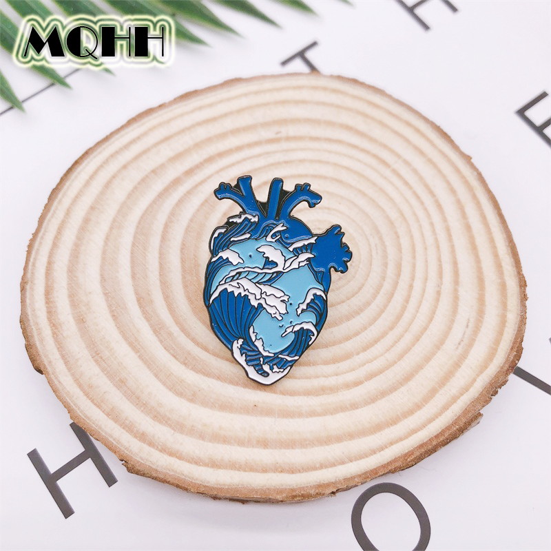 Pinback Buttons Badges Pins White Sea Urchin Lapel Pin Brooch Clip Trendy Accessory Jacket T-Shirt Bag Hat Shoe