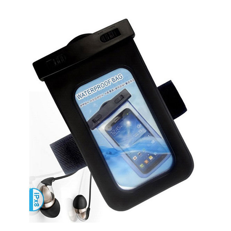Universal Swimming Case Waterproof phone pouch With Watertight Earphone Drawstring Bags Against Water Jack for Up To 5 Inch3