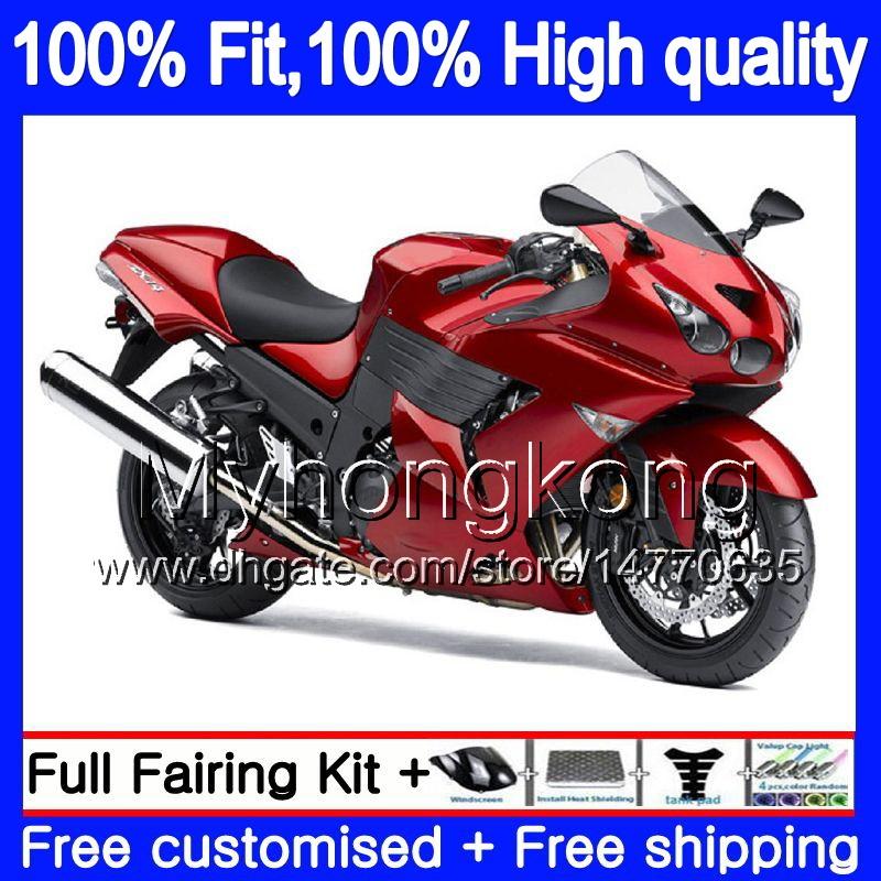 2006-2012 Kawasaki Ninja ZX14 ZX14R Plugs Set Motorcycle Krator MT261-005 Rubber Frame Fairing