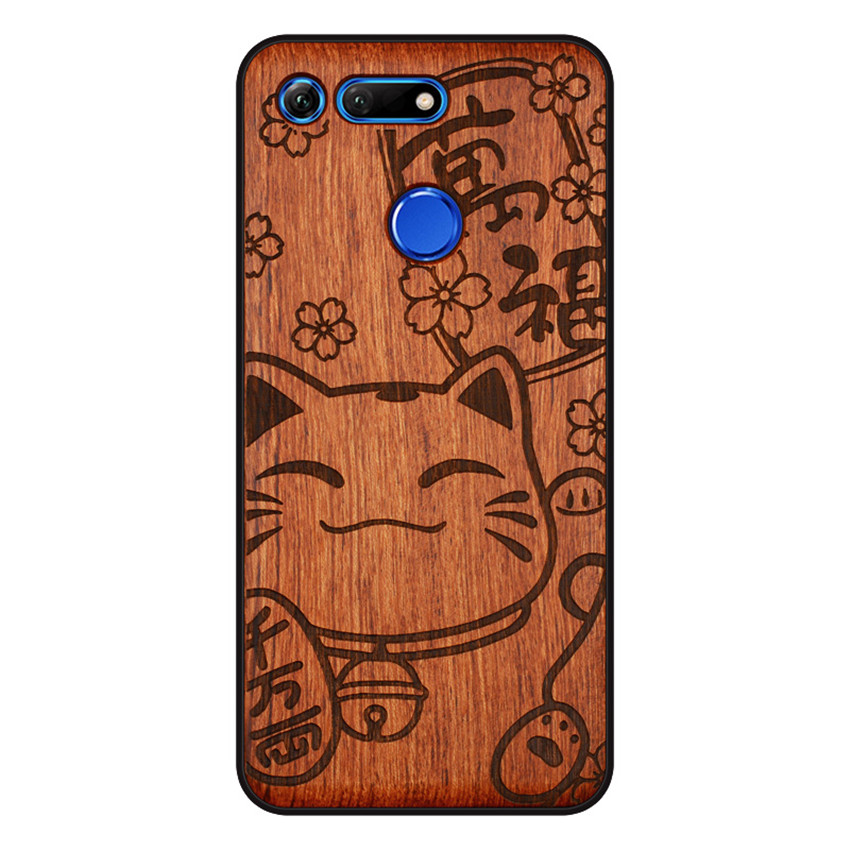 BOOGIC Original Wood Phone Case For Huawei Honor View 20 V20 V10 Wood +TPU Cover For Honor 8x Play 10 Ultra-Thin Wooden Coque (12)