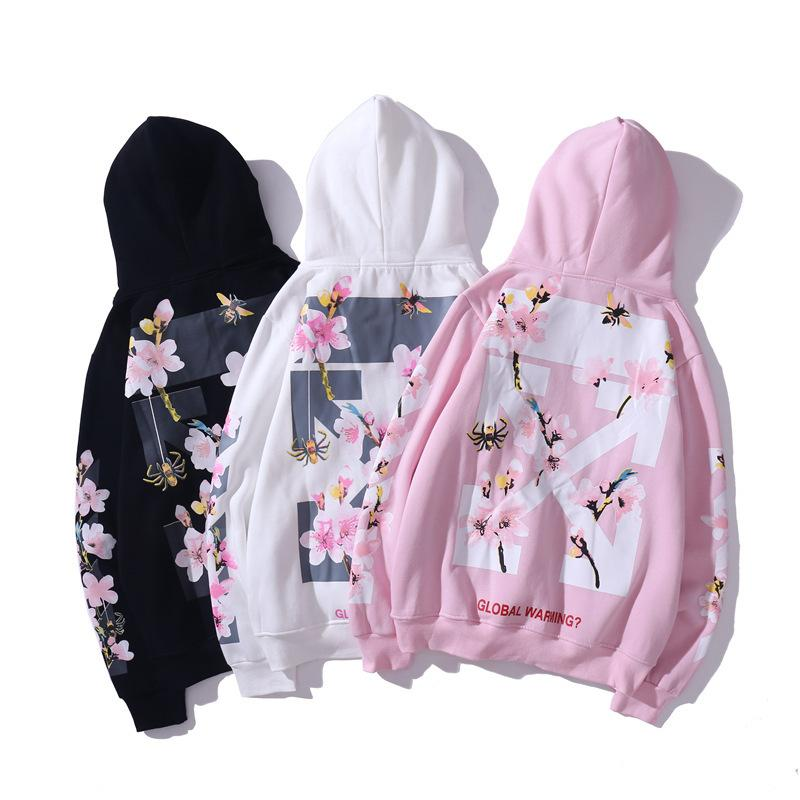 nobrand Casual Fashion Sweater Couple Letter Printed Ribbon Hoodie Sweater Hoodie Pink,M