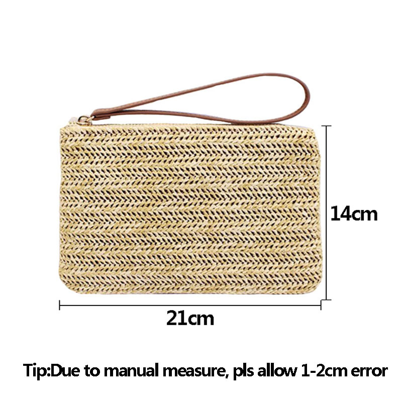 Women Clutch Bags Female INS Popular Summer Beach Straw Bag Lady Travel Mini Messenger Bags Casual Knitted Bolsa Tote SS3133 (12)