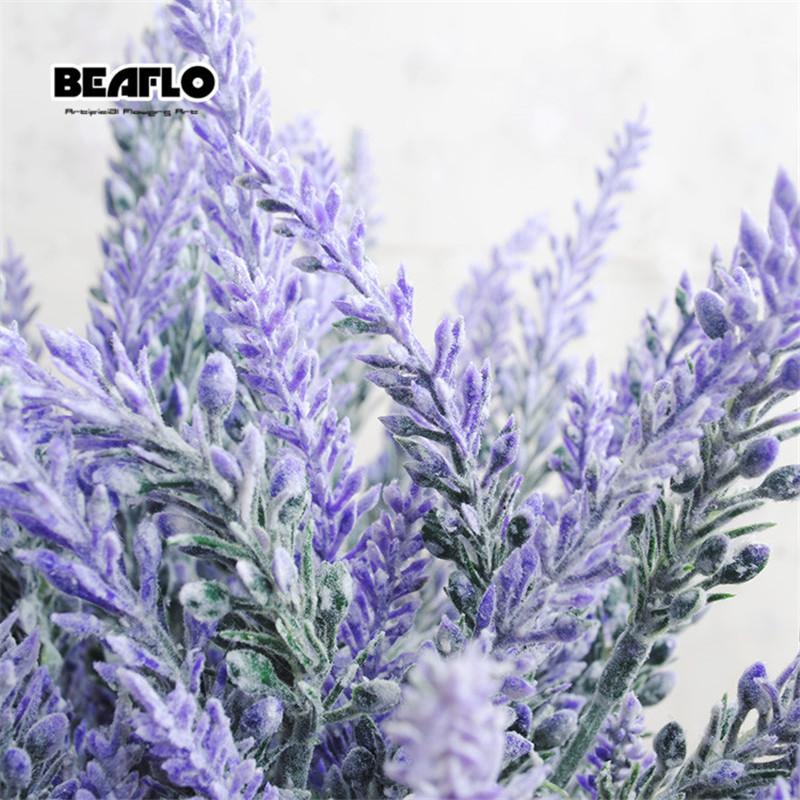 Romantic Provence Lavender Flower Silk Artificial Flowers Plants Fake Artificiales Flores Wedding Home Garden Table Decoration C19041701