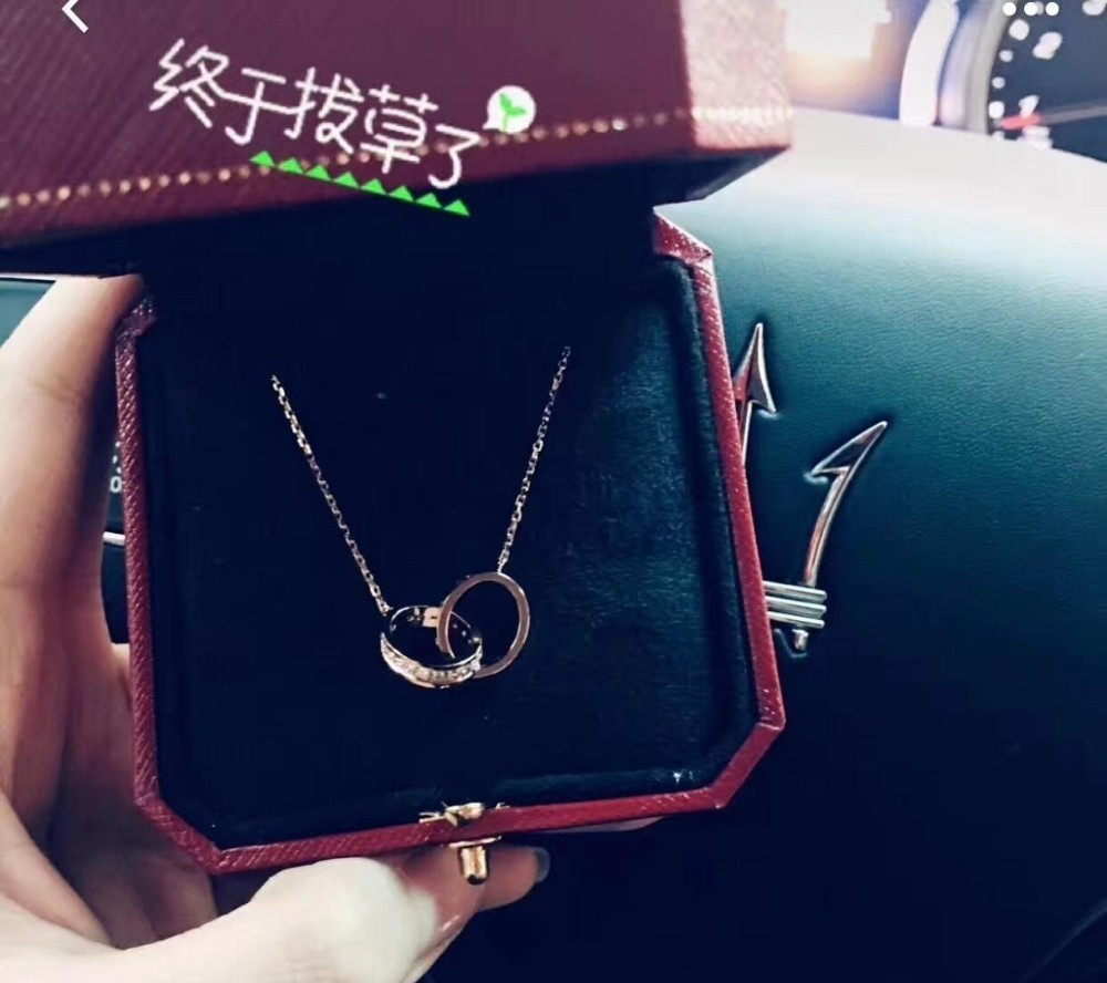Designer Luxury European and American style capital letter necklace silver fashion jewelry simple neck chain female