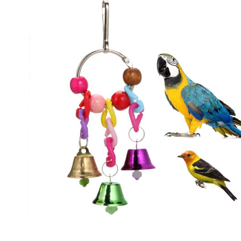 Papagei vogel spielzeug acryl hängen bell cage spielzeug für papageien nymphensittich sittich pet vogel klettern kauen papagei produkte