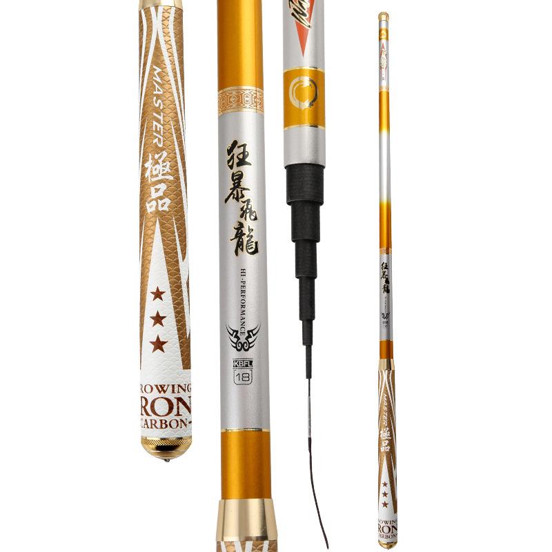 High Carbon Stream Rod 3.6m 4.5m 5.4m 7.2m Super Short Hand Rod Ultra Light Super Hard Fishing Pole Cane Vara De Pesca Fishing Gear Stick