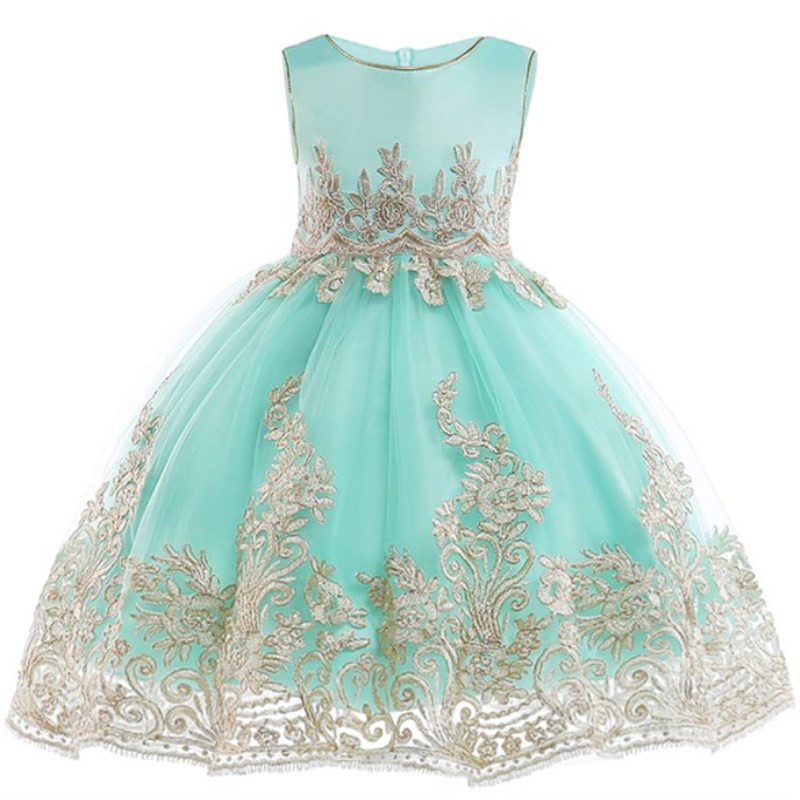 Flower-Girl-Princess-Wedding-Party-Dresses-Gold-Wire-Embroidery-Kids-Prom-Ball-Gowns-Formal-Baby-Clothes (2)