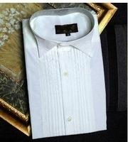 Groom Tuxedos Shirts Best Man Groomsmen White Men Wedding Shirts A10000