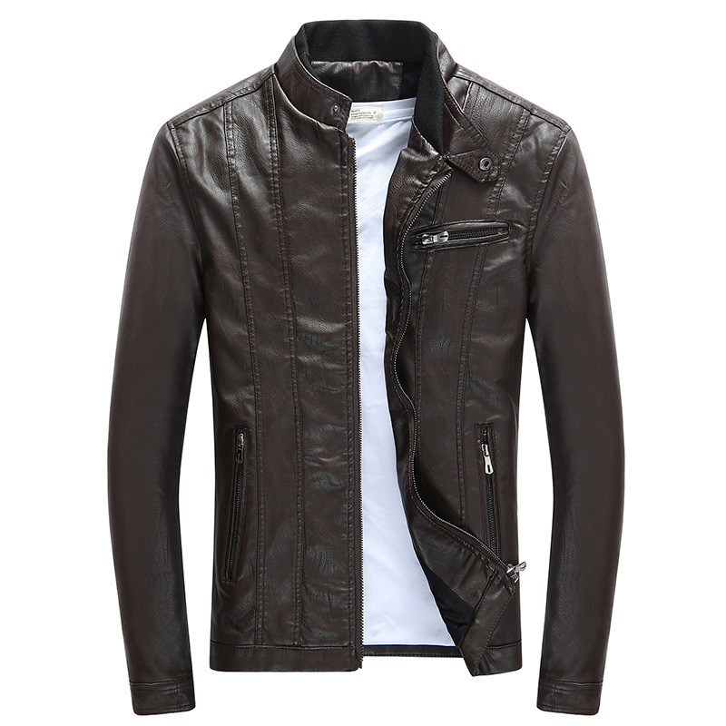 Mens Leather Jackets Motorcycle Bomber Biker Genuine Lambskin 79