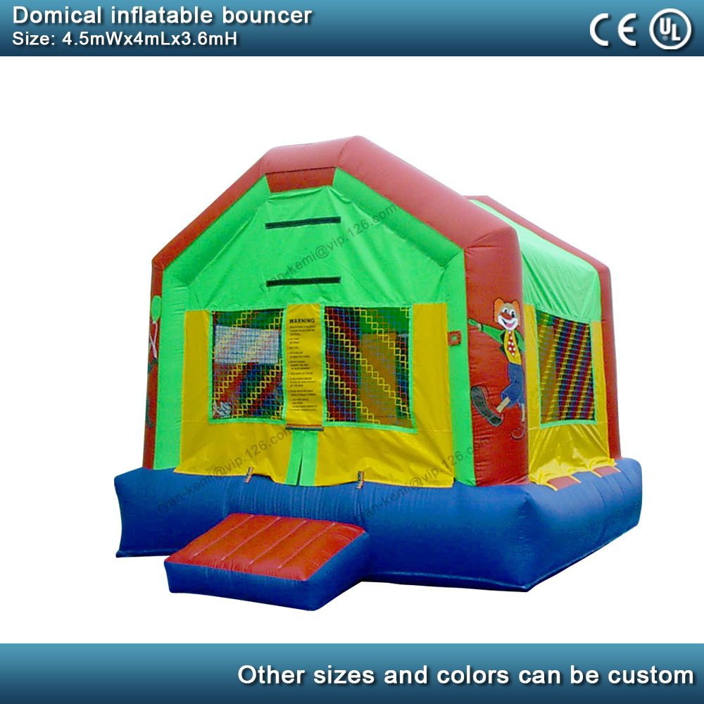 Domical inflatable bouncer commercial inflatable castle kids bounce house party yard inflatable with blower 2