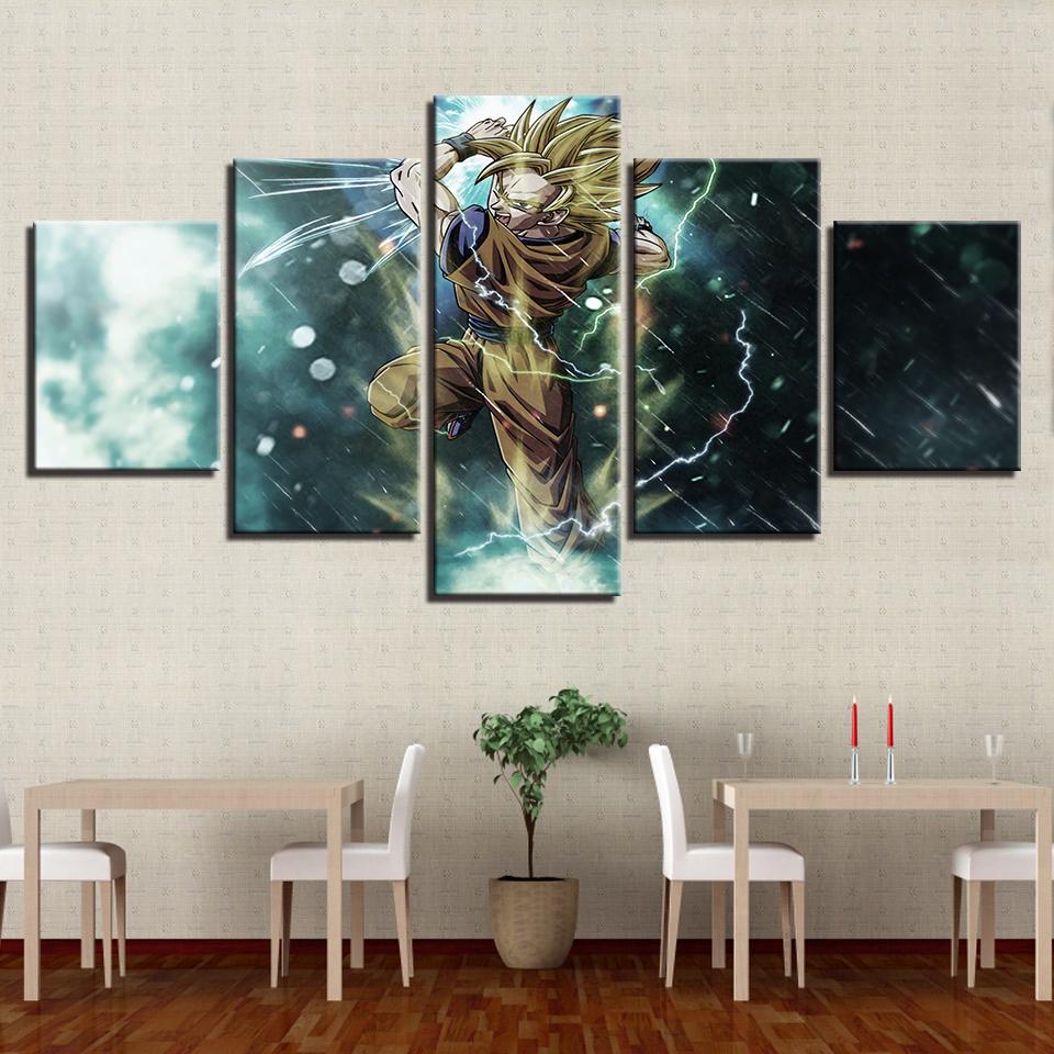 Grosshandel Leinwand Malerei 5 Stucke Cartoon Animation Dragon Ball Bilder Hd Drucke Poster Fur Wohnzimmer Wand Kunst Rahmen Wohnkultur Von Xu793737893 9 62 Auf De Dhgate Com Dhgate