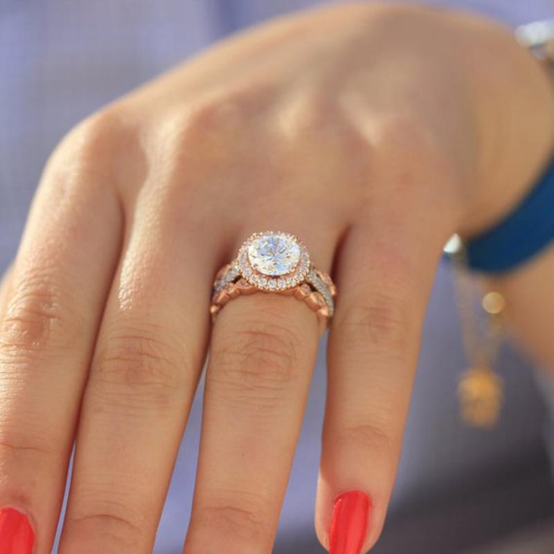 Charm Damen Oval Cubic Zirkonia Finger Ring Braut Hochzeit Verlobung Schmuck