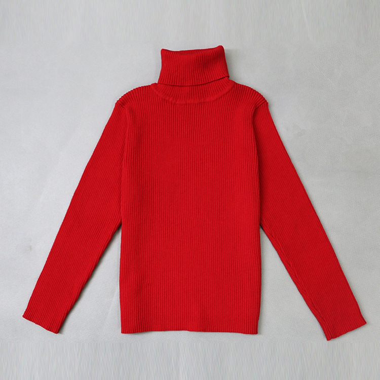 2019 Autumn Baby Boys Girls Turtleneck Sweaters Kids Girl Sweater for Winter Knitted Bottoming Boys Sweaters Vetement Enfant